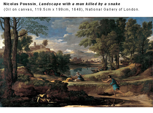 Landscape with a man killed by a snake