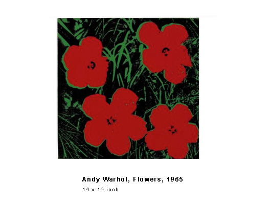 Andy Warhol, Flowers, 1965